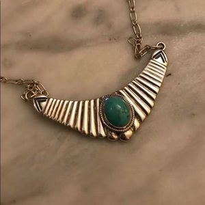 Rare sterling silver and turquoise necklace